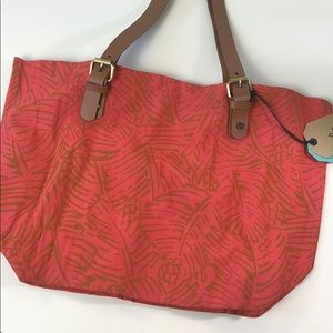 PrAna Slouch Tote Medium Papaya Cabana